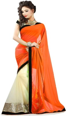 Temptingg Fashions Embriodered Bollywood Chiffon Sari