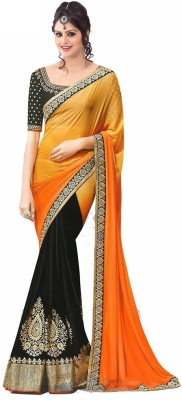 Anjani Creation Embriodered Bollywood Georgette Sari