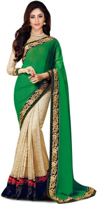 Manshvi Fashion Embriodered Fashion Georgette Sari