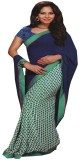 Saloni Printed Bollywood Synthetic Georg...