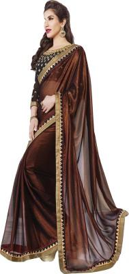 ARsalesIND Embriodered Fashion Chiffon, Georgette Sari