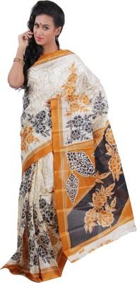 Chaand Sarees Printed Ikkat Art Silk Sari