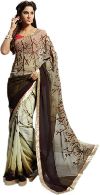 KL COLLECTION Embriodered Fashion Georgette Sari
