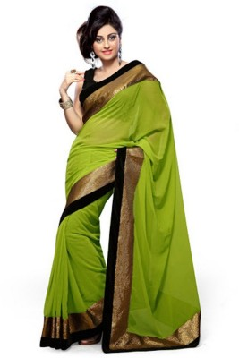 Panchi Plain Bollywood Handloom Pure Georgette Sari