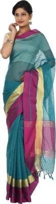 Seven Square Checkered Banarasi Net Sari