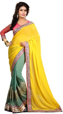 Krishna Fab Embriodered Fashion Chiffon Sari