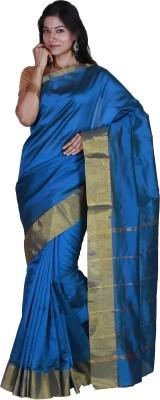JISB Solid Coimbatore Art Silk Sari