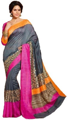 Galaxy Trading House Embellished Fashion Printed Silk Sari