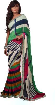 Aifaa Geometric Print Fashion Pure Georgette Sari