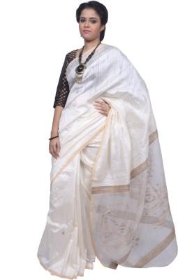Tanjinas Woven Phulia Handloom Muslin Sari