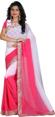 STARLIGHT CLUB Embroidered Fashion Georgette Sari(Multicolor)