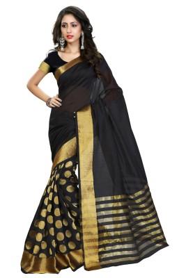 Heavendeal Polka Print Banarasi Silk Cotton Blend Sari