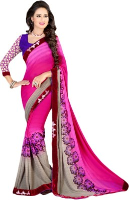 Prachi Silk Mills Printed Fashion Georgette Sari