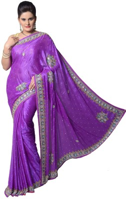 Aarti Saree Embriodered Fashion Crepe Sari