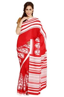 Satrang Printed Daily Wear Crepe Sari