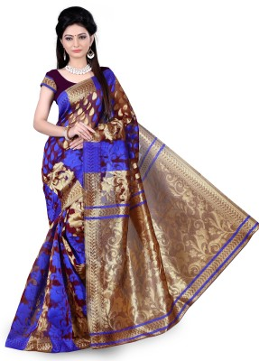 Jazz Creation Embriodered Daily Wear Jacquard Sari