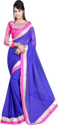 Laxmi Sarees Plain Bollywood Georgette Sari