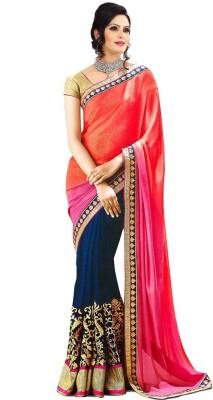 Manshvi Fashion Embriodered Fashion Chiffon Sari