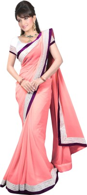 YATRI SILK MILLS Embriodered Bollywood Synthetic Georgette Sari