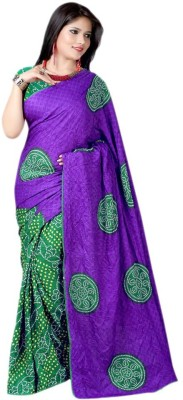 Saiyaara Fashion Printed Bandhani Chiffon Sari