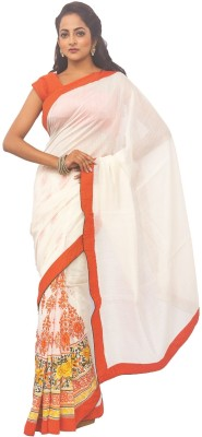 Zorbain Style Self Design Fashion Chanderi Sari