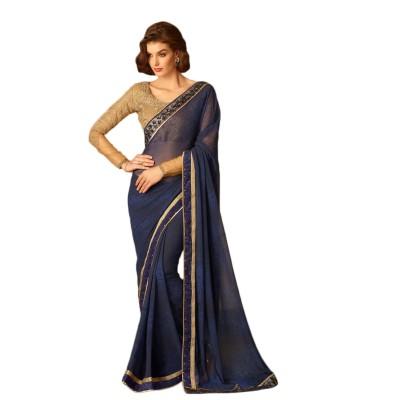 Manish Creation Embriodered, Self Design Bollywood Georgette Sari