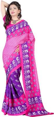 Wind Feb Printed Assam Silk Handloom Art Silk Sari