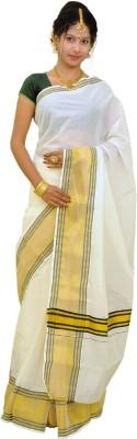 Thirumalai Textiles Solid Balarampuram Handloom Cotton Sari