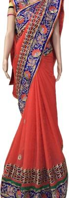 Prachi Silk Mills Embriodered Fashion Jacquard, Silk Sari
