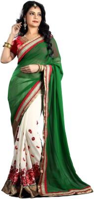 SUHRAD CREATION Embriodered Fashion Georgette Sari