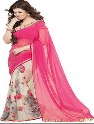 Vivera Fashion Floral Print Bollywood Georgette Sari