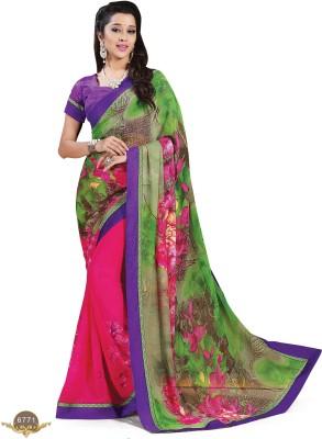 Ridham Sarees Printed Daily Wear Chiffon Sari