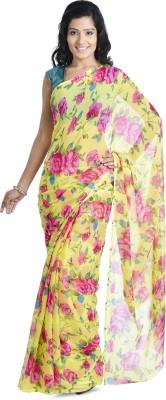 Aaditri Floral Print Daily Wear Chiffon Sari