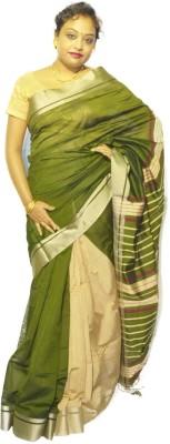 Fashion Gallery Solid Tangail Silk Cotton Blend Sari