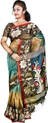 Kakali Self Design Phulia Handloom Silk Wool Blend Sari