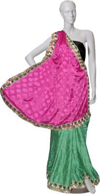 Serwans Plain Daily Wear Synthetic Crepe Sari
