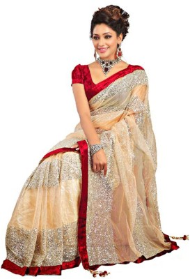 Abretail Self Design Fashion Net Sari