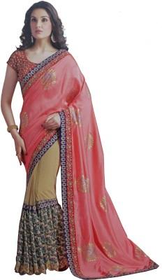 Sahaj Embriodered Fashion Georgette, Satin, Chiffon Sari