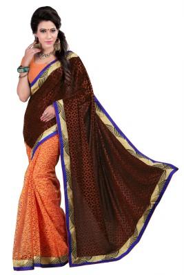 Jagdamba Creation Woven Fashion Velvet Sari