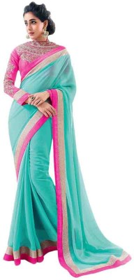 Bollywood Designer Self Design Bollywood Chiffon Sari