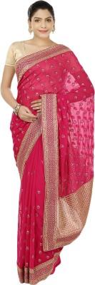 Suruchi Embriodered Fashion Chiffon, Art Silk Sari