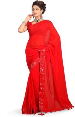 Harrow Villa Plain Bollywood Georgette Sari