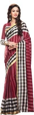 Sunaina Striped Fashion Cotton Sari