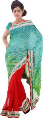 Lado Fashion Square Embellished Bandhej Georgette Sari