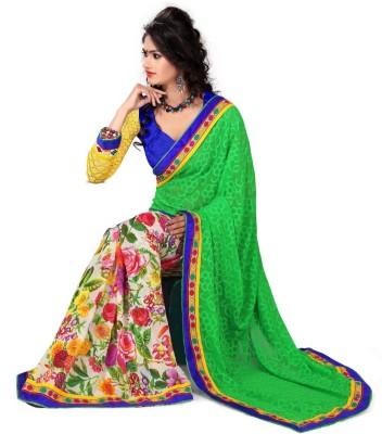 Shaurya Trendz Printed Bollywood Georgette Sari