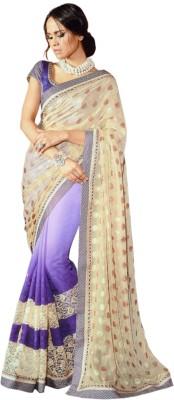 Saaj Self Design Fashion Pure Chiffon, Brasso Sari