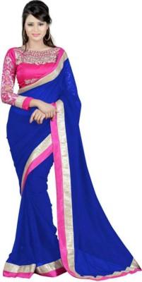 Dharmeshkumar Embriodered Fashion Georgette Sari