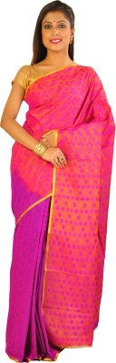 Teeforme Self Design Arani Pattu Printed Silk Sari
