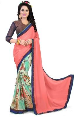 KhushPreet Digital Prints Bollywood Georgette Sari