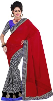 Aanchal Fashion Printed Fashion Georgette Sari